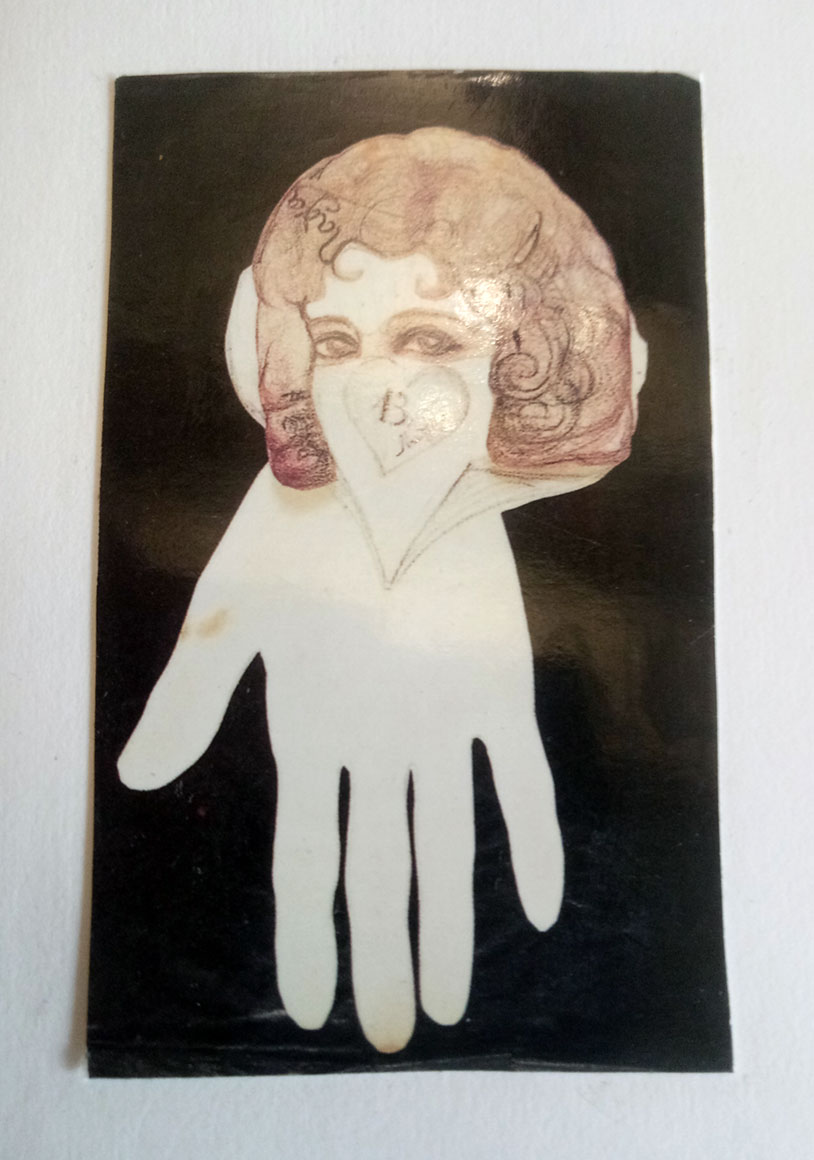 Autoportrait premonitoire (1927) de NADJA au masque et au gant