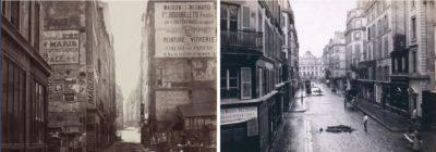 À gauche : Rue Saint-Jacques / À droite : Vue de l'ancienne rue de Constantine (île de la Cité, actuelle rue de Lutèce) – 1865