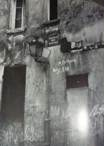 Graffiti « Rouquin Bigleux » - Paris, passage des muriers – 1930