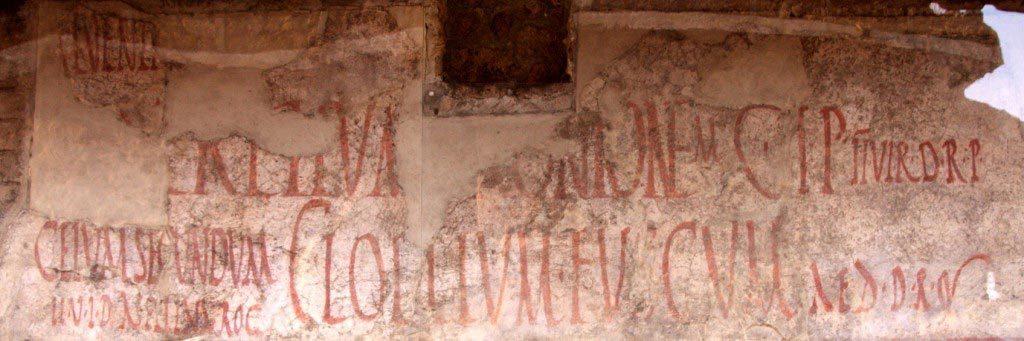 Messages et slogans politiques inscrits sur les murs de Pompéi